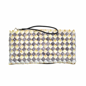 Large wallet - Creme bean & barcode