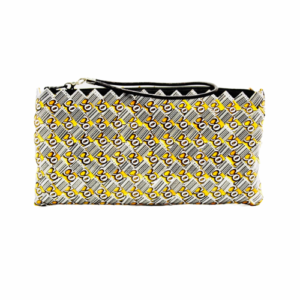 Large wallet - Yellow & barcode