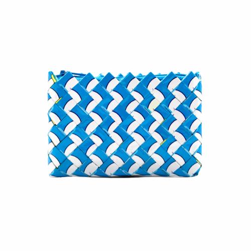 Coin Purse Mini - White & Blue