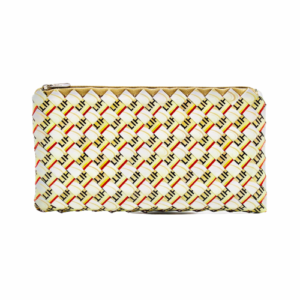 Large Wallet - Yellow & Light Creme Bean