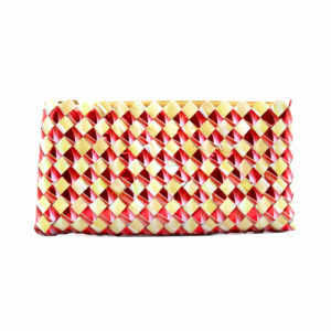 Large wallet - red & Creme