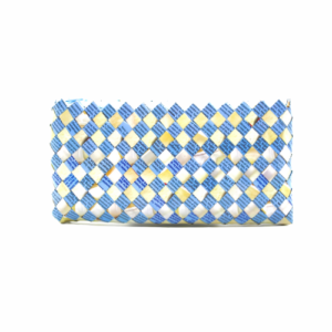Large wallet - Light Blue & Creme
