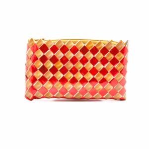 Medium Wallet - Red & Creme